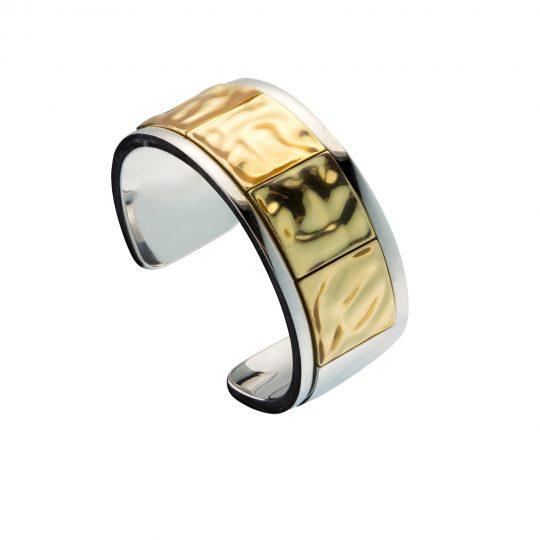Gioielli Lusso Prodigio Divino Bracciale Mosaico Oro Chiaro